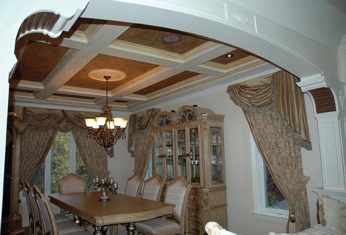 moulures dorure antique stucco d coratif plafond en faux cuir. Black Bedroom Furniture Sets. Home Design Ideas